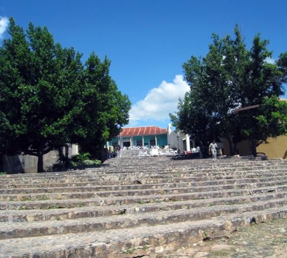 steps off the Plaza Mayor