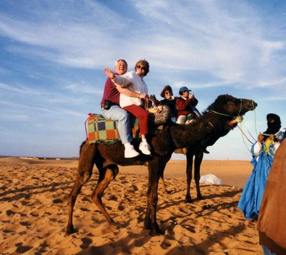 Camel riding in the Sahara Desert, Morocco