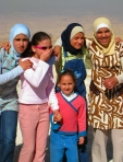 school girls at Mt. Nebo, Jordan
