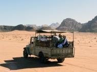 off-roading in Wadi Rum, Jordan