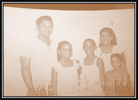 Tania and family in Cuba, early 1980s