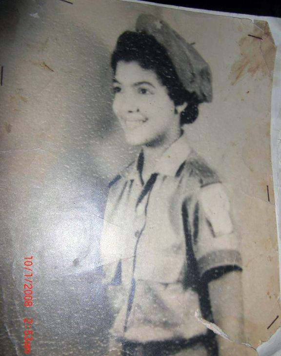 Tania's mother when she worked for the Literacy Campaign in the early 1960s, Cuba