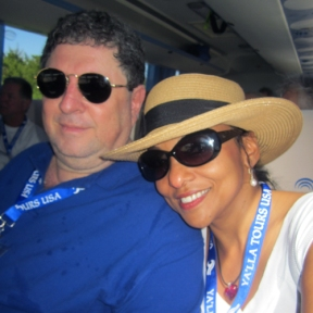 Tania and Ronen, traveling with a Ya'lla group in Cuba, October, 2013.