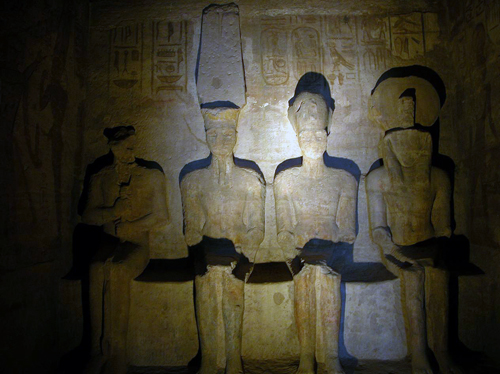 Grand Temple inner sanctuary, Abu Simbel, Egypt