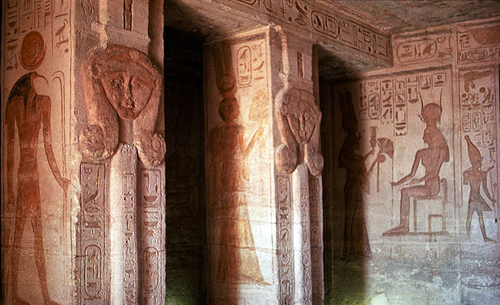Small Temple interior, Abu Simbel, Egypt