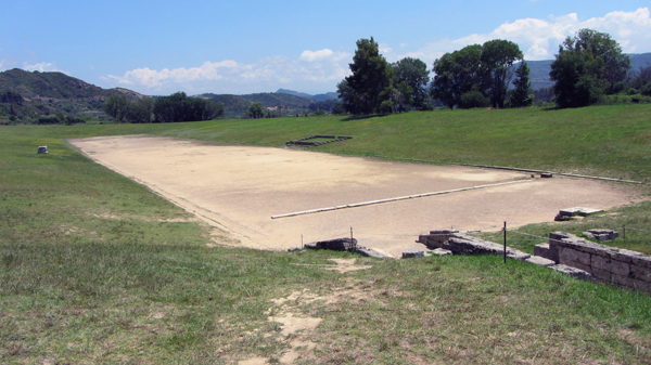 the ancient stadium at Olympia, Greece