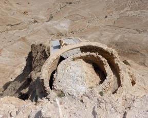 water cistern at Masada, Israel, photo by Sallie Volotzky