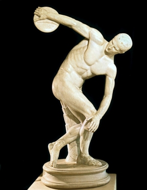 marble Roman copy of the lost 5th-century BCE Greek bronze Diskobolus by Myron