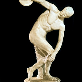 marble Roman copy of the lost 5th-century BCE Greek bronze Diskobolus by Myron