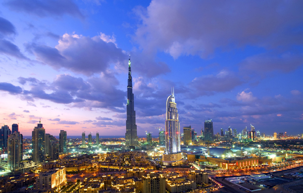 Burj Khalifa towering over Dubai