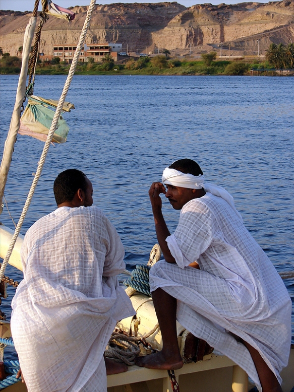 on the Nile, near Aswan, Egypt, photo by Jason Hedrick