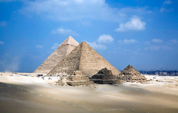 the pyramids of Giza, Egypt