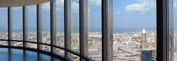 the 124th floor observation deck, Burj Khalifa, Dubai, UAE