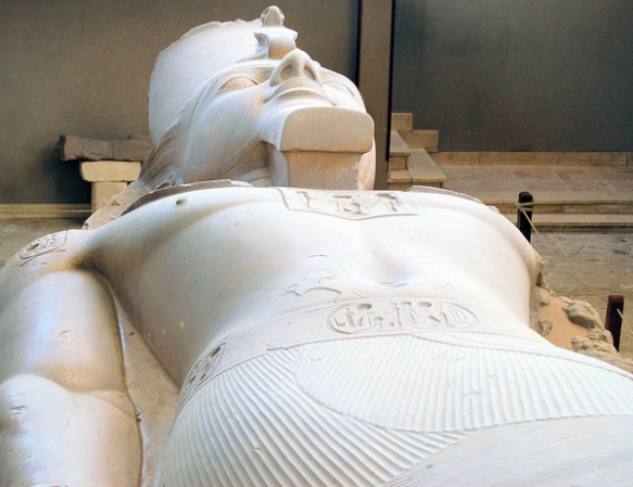Recumbent Ramesses colossal statue, Memphis, Egypt