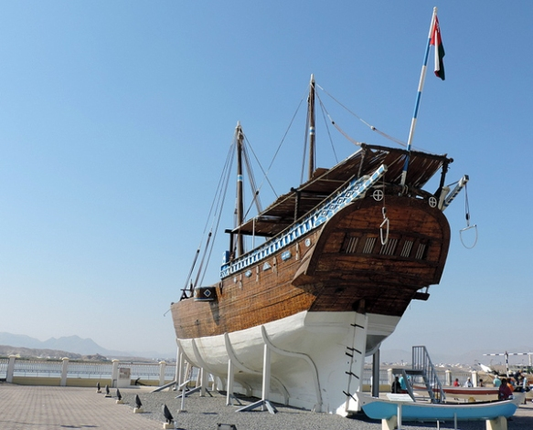 restored Ghanjah Dhow, Sur shipyards, Sur, Oman, photo by Sallie Volotzky