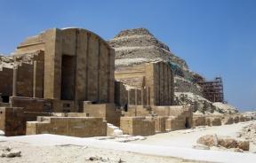 the Step Pyramid complex, Sakkara, Egypt