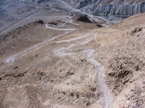 snake path, Masada, Israel, photo by Sallie Volotzky