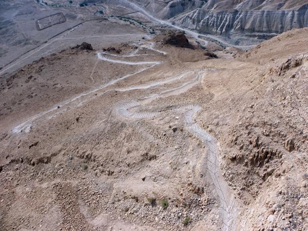 snake path, Masada, Israel, photo by Sallie Volotzky