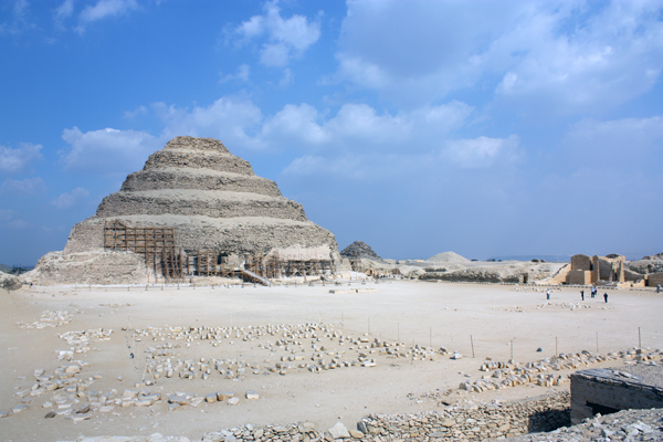 the Step Pyramid, Sakkara, Egypt