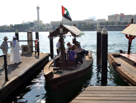 abras (water taxi) on Dubai Creek, Dubai, UAE, photo by Rich Davis