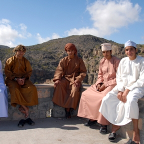 Omani boys , Nizwa Souk, photo courtesy of Elite Tourism, Oman