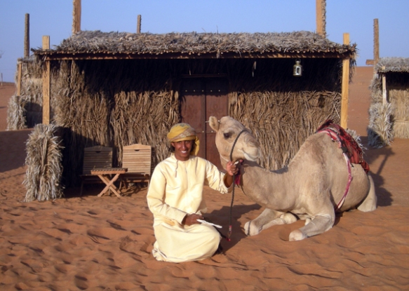 smiling camel and friend, Wahiba Sands, photo courtesy of Elite Tourism, Oman