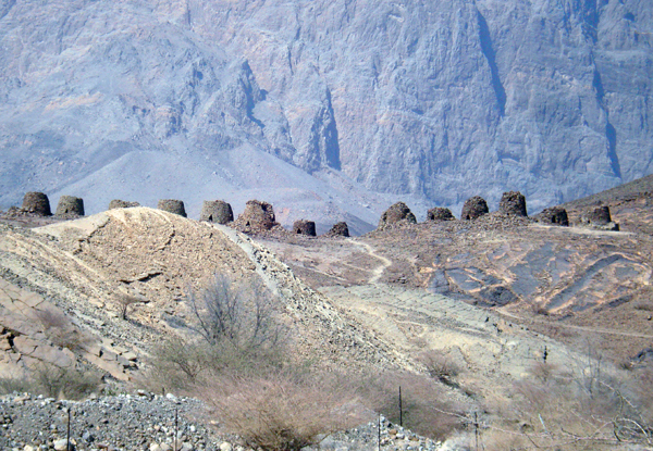 5,000-year old beehive tombs, Al Ayn, Oman, photo courtesy of Elite Tourism