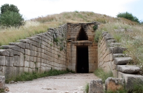 tholos or beehive tomb, Mycenae, Greece