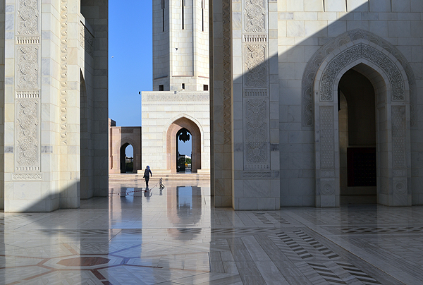 Sultan Qaboos Grand Mosque, Muscat, Oman, photo by Rich Davis